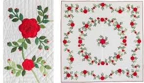 Flower quilts 3 ways + ruched flowers how-to - Stitch This! The ... & Virginia's rose quilt, two more views Adamdwight.com