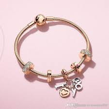 valentine gifts pandora rose gold i love you pendant charm bracelets 925 sterling silver jewelry full package silver bracelets for women charms for a charm