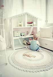 nursery carpet round off white