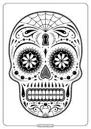 printables sugar skull coloring pages