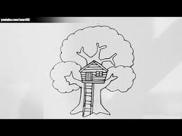 how to draw a treehouse step by step. Unique Draw How To Draw A Tree House In To Draw A Treehouse Step By O