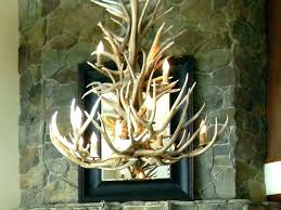 kitchen lighting fixtures white antler chandelier elegant for painted over farmhouse table faux small w