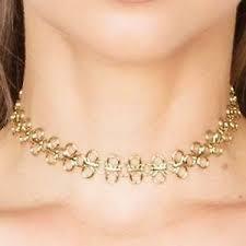 a marie jewelry mimi choker gold
