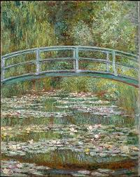 bridge over a pond of water lilies claude monet french paris 1840