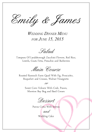wedding reception program templates free download collection of solutions a free wedding menu template with free
