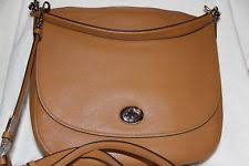 NWT Coach Turnlock Hobo In Pebble Leather Shoulder Bag Crossbody in Saddle