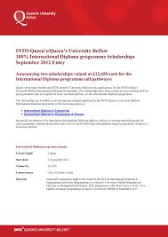 university belfast diploma % scholarship  queen s university belfast diploma 100% scholarship 2 2012 2013