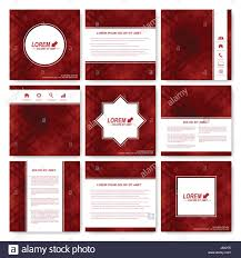 Red Set Vector Templates For Square Brochure Cover Layout Magazine