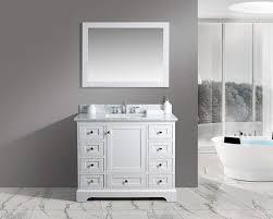 com urbanfurnishing net jocelyn 42 inch 42 bathroom sink vanity set with white italian carrara marble top white home kitchen