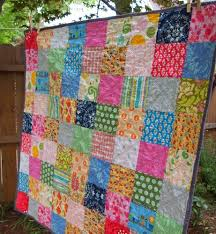 Plum and June: The First Blog Hop News and a Simple Patchwork Quilt & ... spread out the colors and the mix of dark and light - does it have that  vintage-y quality to it despite some of the modern fabrics included? I  quilted ... Adamdwight.com
