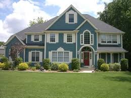 exterior house paintBlue Exterior House Paint