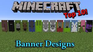 Minecraft Banner Patterns Impressive Minecraft Top 48 Banner Designs YouTube