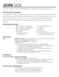 Professional Civil Engineer Intern Templates To Showcase Your