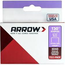 Arrow Staple Size Chart