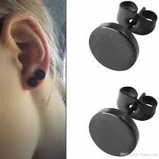 2019 Black Round Shaped For Women Men Earrings Earrings Ear Studs
