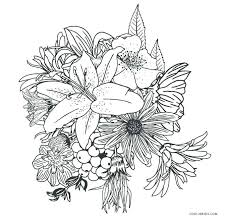 Flower Coloring Pages Free Coloring Pages Flowers Free Printable