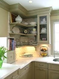 cool kitchen cabinet shelves on corner ideas open replacement