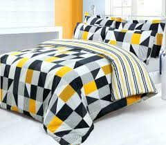 gray and yellow duvet cover black grey trendy striped design reversible bedding quilt set nursery sets