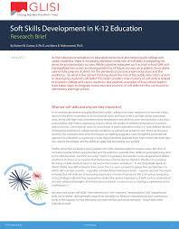 soft skills development in k education
