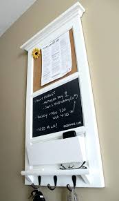 wall mounted mail organizer and key rack vertical wall chalkboard cork bulletin board with mail organizer