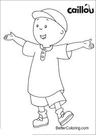 Printable Caillou Coloring Pages Drawing Picture Free Printable