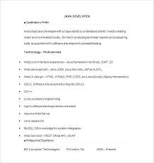 Resume For Java Developer Junior Java Developer Resume Template ...