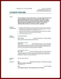 College Student Resume Examples No Experience 9 10 Resume Samples For College Students With No Experience