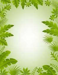 jungle background clipart. Fine Clipart Illustration Of Floral Frame Background And Jungle Background Clipart