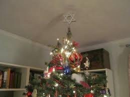 I mean, really, shouldn't every Jewish Christmas tree have a Star of David  tree topper and a few strings of menorah lights?