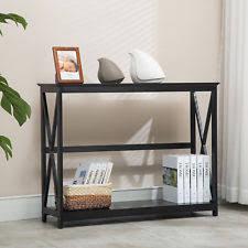 hallway tables with storage. 2 Tier Black Console Table Accent Tables With Storage Shelf Hallway Furniture
