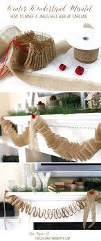 Jingle Bell Garland Diy Jingle Bell Burlap Garland Winter Wonderland Christmas
