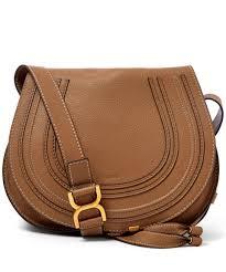 brown saddle bag purse