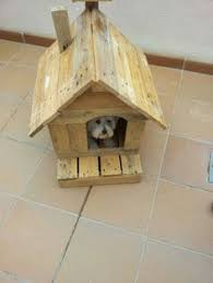 Dog House Made Of Reclaimed Pallets   Small Dog House  Dog Houses    Small dog house made from upcycled pallets  cute