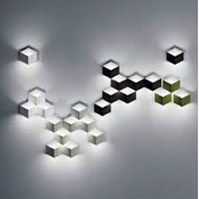 Office Wall Lighting Fixtures Geometry Square Grid Box Magic Led Aluminum Office Hotel Wall Light 24