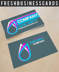 Business Card With Drop Logo Unique Business Cards