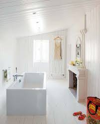 view in gallery white bathroom and freestanding tub with fireplace