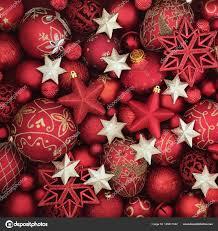 Rot Und Gold Christbaumkugel Christbaumschmuck Stockfoto