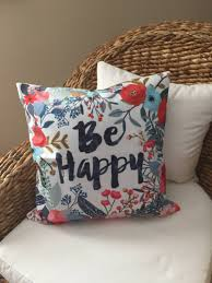 floral pillow shams. Beautiful Pillow Striped Pillow Shams Unique Be Happy Cover Floral Home  Decor Throw Throughout S