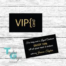 Discount Punch Card Vip Card Loyalty Card Customer Loyalty Card Punch Card Etsy