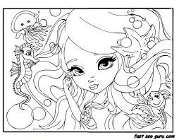 Small Picture For Girls Printable Beautiful Face Barbie Coloring Pages Printable