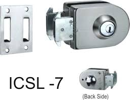 single door lock one side key knob sided two dummy knobs glass sliding system