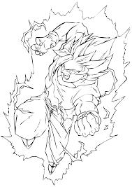 Coloriage Dragon Ball Z Sangohan Super Saiyan 2 Pour Gwendal