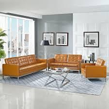 Tan Brown Leather Sofa All Information Sofa Desain Ideas - All leather sofa sets