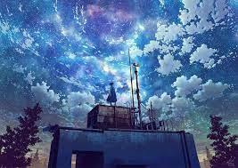 Watching The Galaxy Anime Girl 4k, HD ...