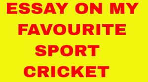 smart essay on cricket my favourite sport my favourite game  smart essay on cricket my favourite sport my favourite game