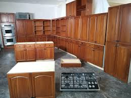 Gigantic Cherry Kitchen Cabinet Set W Dovetailed Drawers 405