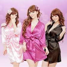 Dressing Gown <b>Women Sexy Sleepwear Nightgown</b> Satin Silk ...
