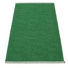 pappelina mono grass green dark green runner rug
