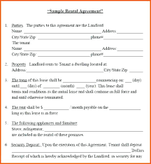 Lease Rent Agreement Format Enchanting Lease Agreement For House Room Rental Sample Contract