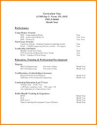 Resume Standard Format Standard Cv Format Pdf Example Resume Pdf